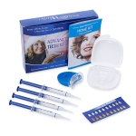 Teeth Whitening Kit with 4 Gel 2 Tray 1 Light for Oral Hygiene Dental Care Bleaching