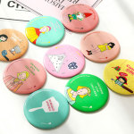 HUAMIANLI Cartoon Portable Small Mirror Cute Girls Makeup Mirror Pocket Mirror For Beauty Tools