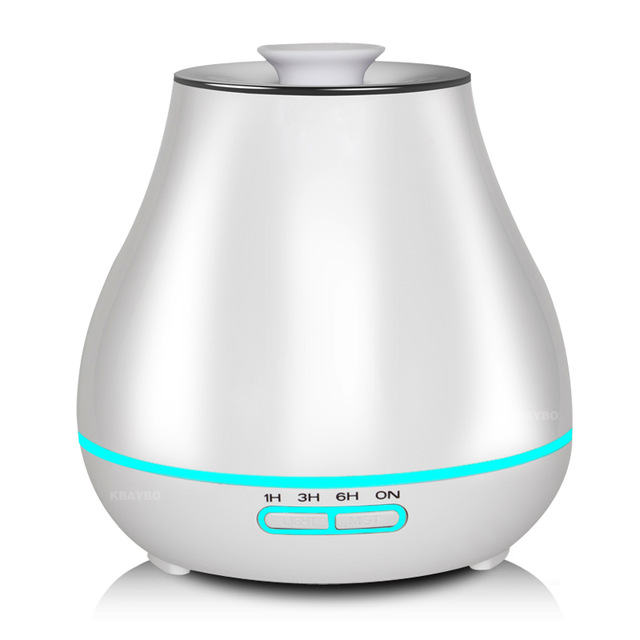 Aroma Essential Oil Diffuser Ultrasonic Air Humidifier with Wood Grain electric LED Lights aroma diffuser for home