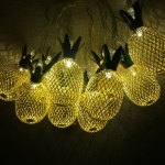 Iron Golden Pineapple LED String Lights Home Decor Light