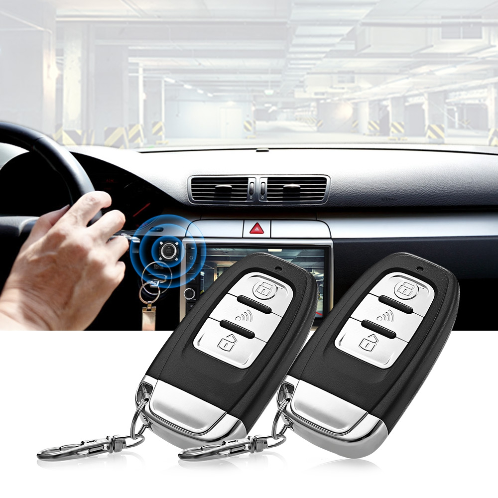 D7 Universal 12V Car Anti-theft System Vibration Alarm One Key Startup Remote Control