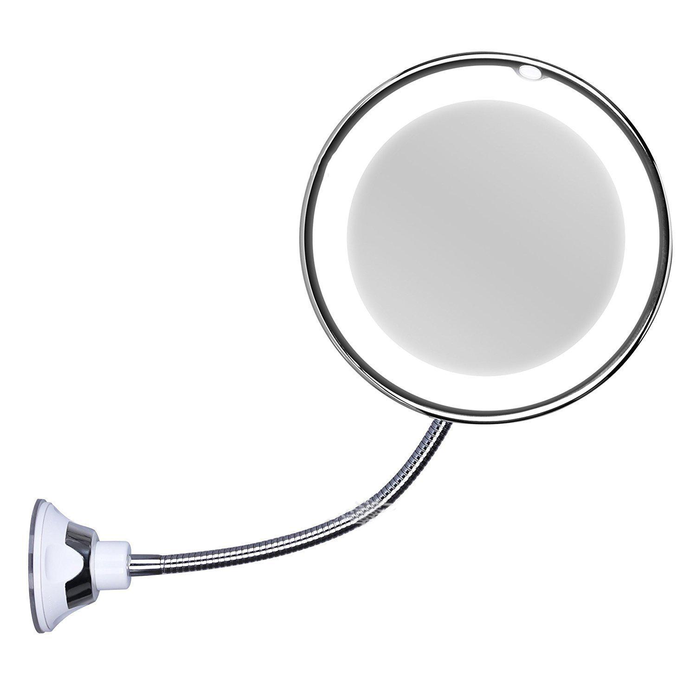 LED带吸盘化妆镜