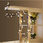 Black rattan lamp string warm white ball light led light string decoration bedroom Christmas wedding