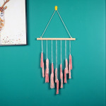 New Bohemian home decoration pink gradient tassel tapestry ins Nordic simple hand-woven tapestry
