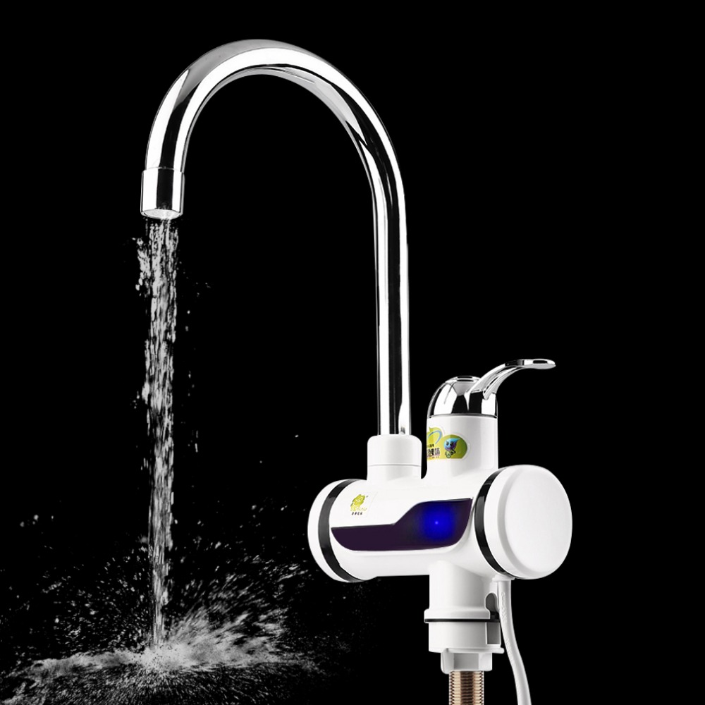 Dropshipping Instant Heating Electric Water Heater Faucet Tap New High Quality LED Digital Display Faucets Taps For Kitchen Home