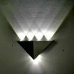 Home Decoration Modern Led Wall Lamp 5W Aluminum Body Triangle Wall Light for Bedroom Home Lighting Luminaire  Wall Sconce Light