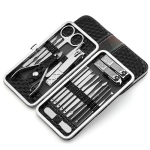 18 PC Manicure Pedicure Set Stainless Steel Manicure Kit Nail Clipper Travel Nail Tool Nail Clippers Scissors Suit Set Kits