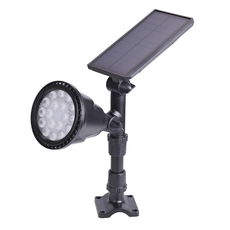 18LED outdoor sensor auto Solar Lamp Light control Spotlight Lawn Waterproof Panel Power Adjustable Flood Lamp white Garden Yard