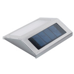 3 LED Solar panel outdoor Lamp Led wall waterproof auto Sensor rechargeable Night light road stairs stainless Light garden Bulb