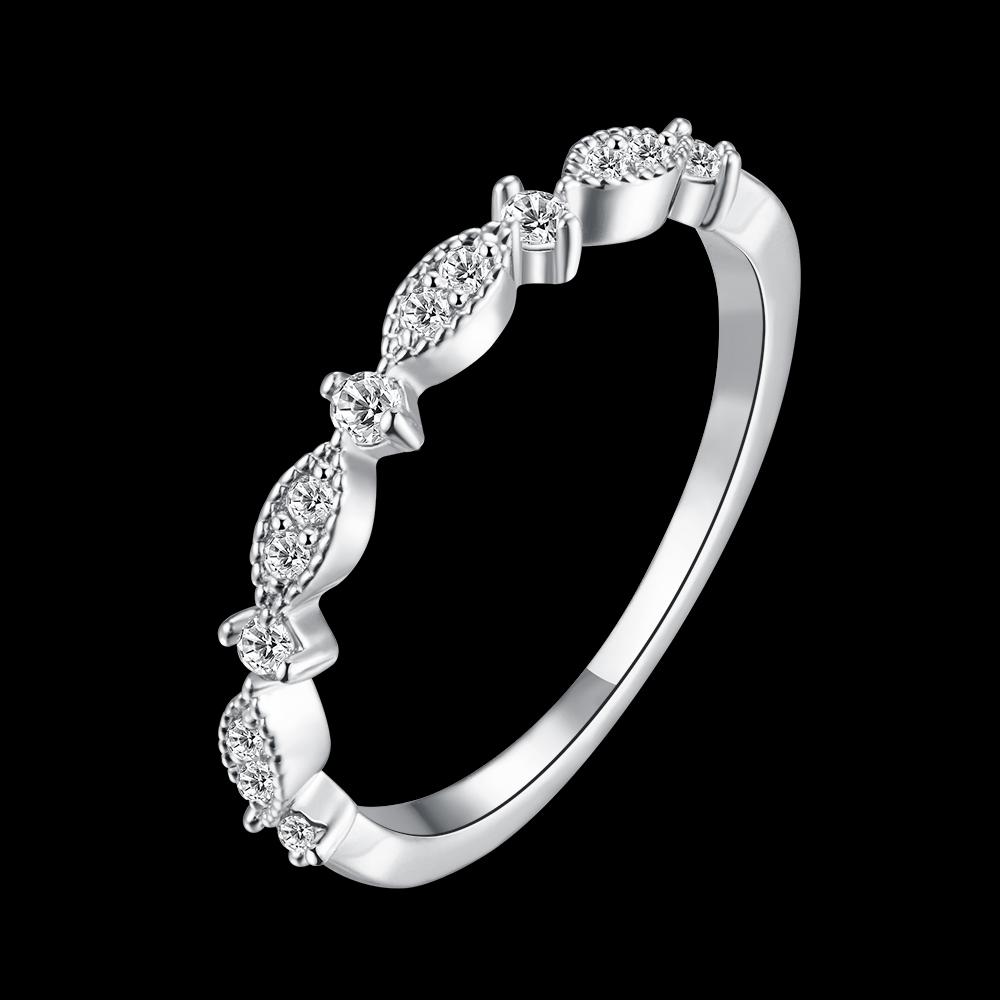 韩风个性简约锆石女士戒指