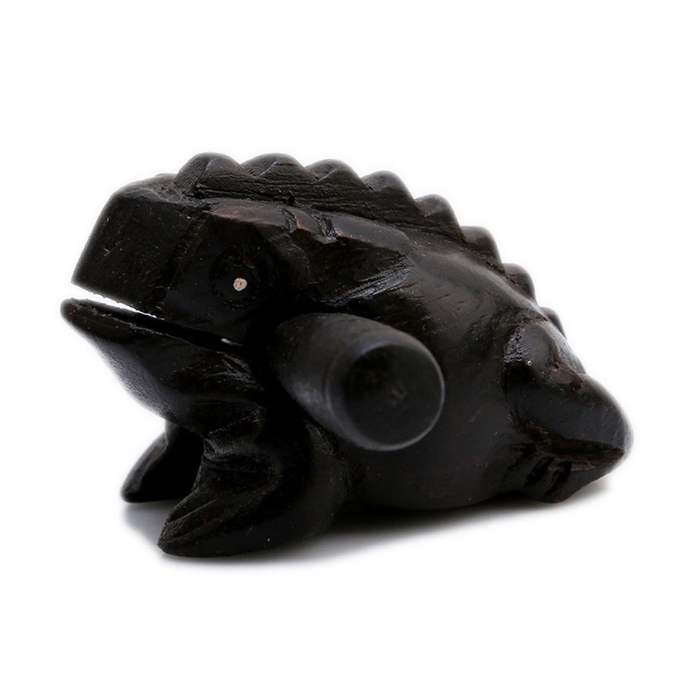 Wood Fortune Frog Carving Handicraft Musical Instrument Tone Block Tourist Souvenir Sound Wooden Frog