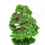 60pcs Mini Plastic Green Trees Scale Architectural Models Train Railways Landscape Scenery Layout Garden Decoration Tree Toys