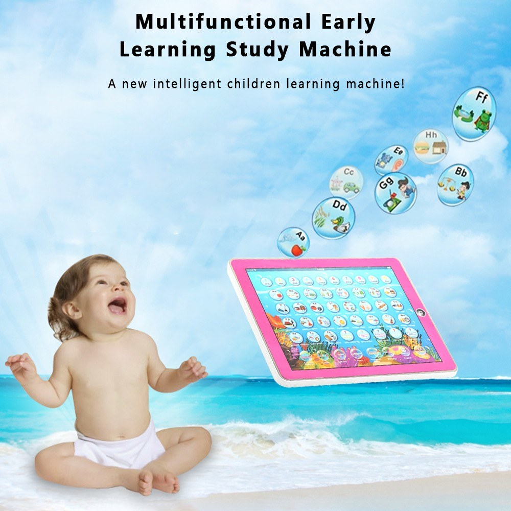 Multifunctional Early Learning Tablet Machine English Spanish Language Switch Study Machine Gift for Kids