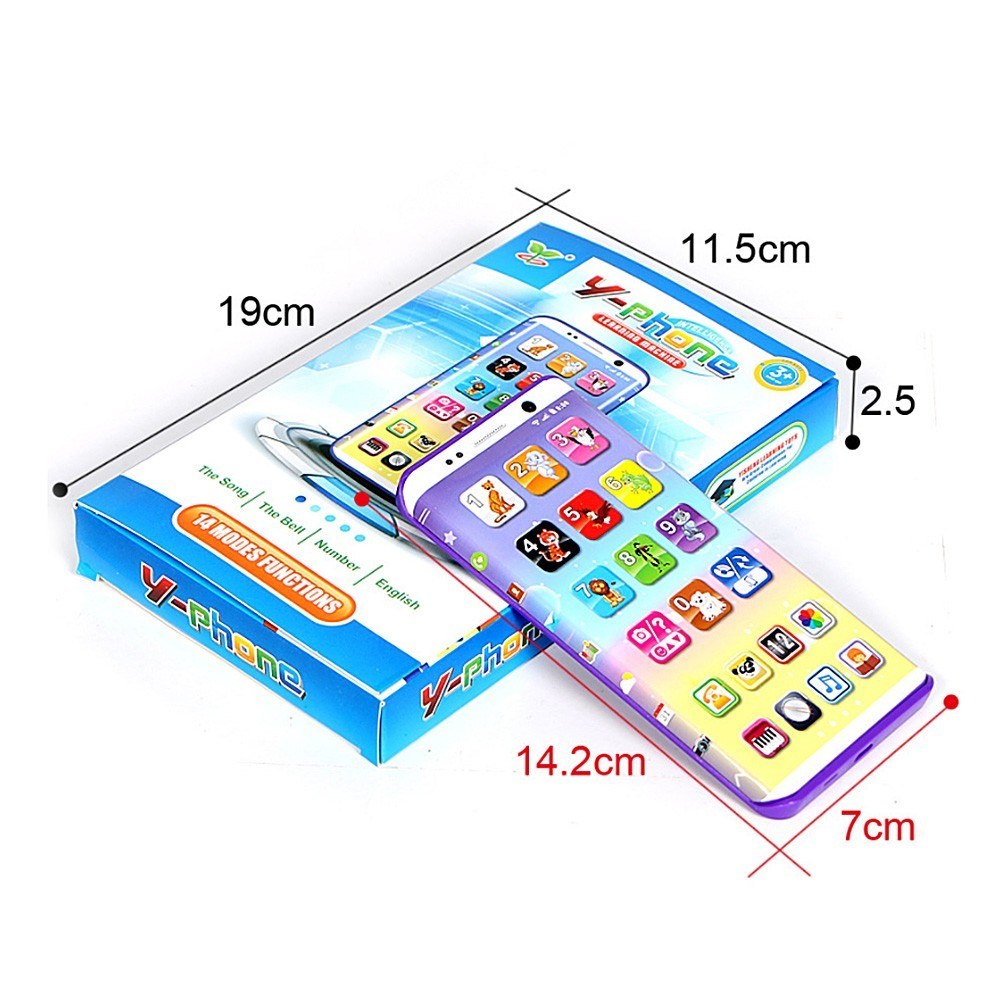 Mobile Phone Toy Music Learning Animal Chat Count Smart Phone Education Toy for Toddler Kids