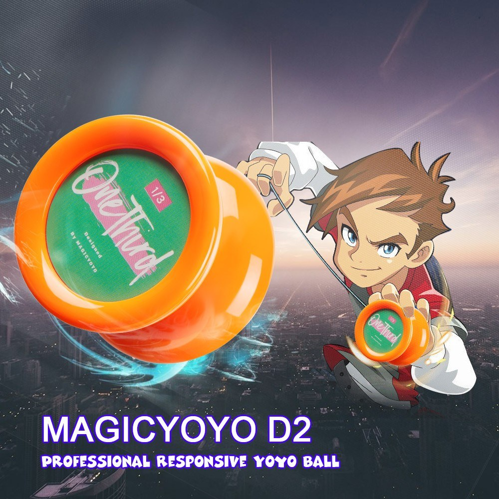 MAGICYOYO D2 Professional Responsive Yoyo Ball Butterfly Shape Spin Toy for Kids Beginners