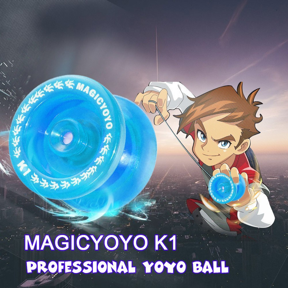MAGICYOYO K1 Spin ABS Yoyo 8 Ball KK Bearing with Spinning String for Kids