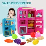 31PCS IN 1 Kitchen Play Toy Mini Vending Refrigerators Early Educational Toys for Kids Children
