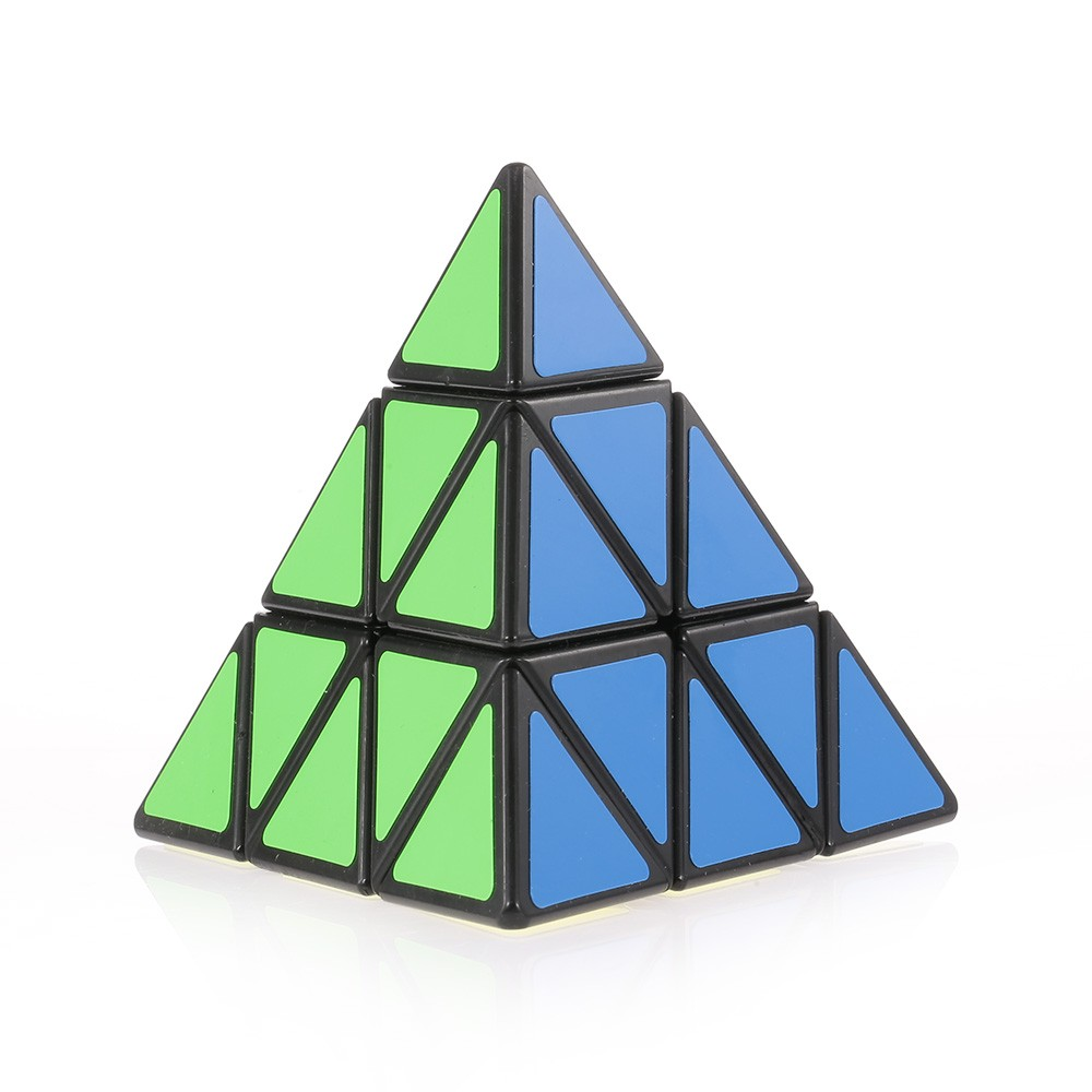 Pyraminx Speed Cube Triangle Magic Cube Pyramid Sticker Cube Puzzle Cube for Beginners Kids