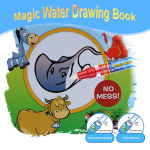 Non-toxic Magic Water Drawing Book Coloring Book Doodle with Magic Pen Animals Painting No Ink Educational Toy