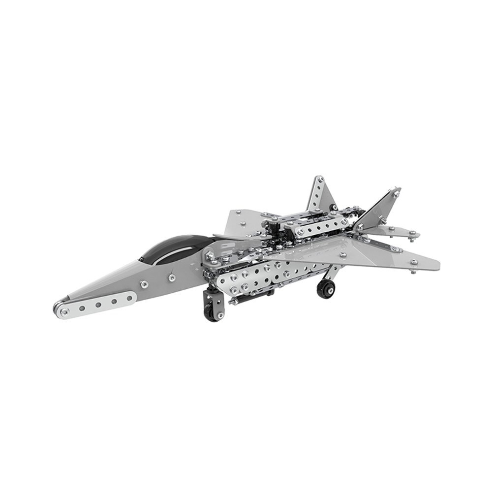 485Pcs Fighter Intelligent Construction Set 3D Stainless Steel Model Kit DIY Gift Model Building Educational Toys