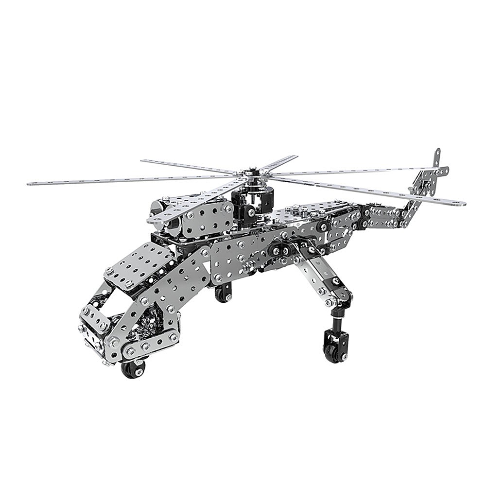 660Pcs Heavy Lift Helicopters Intelligent Construction Set 3D Stainless Steel Model Kit DIY Gift Model Building Educational Toys