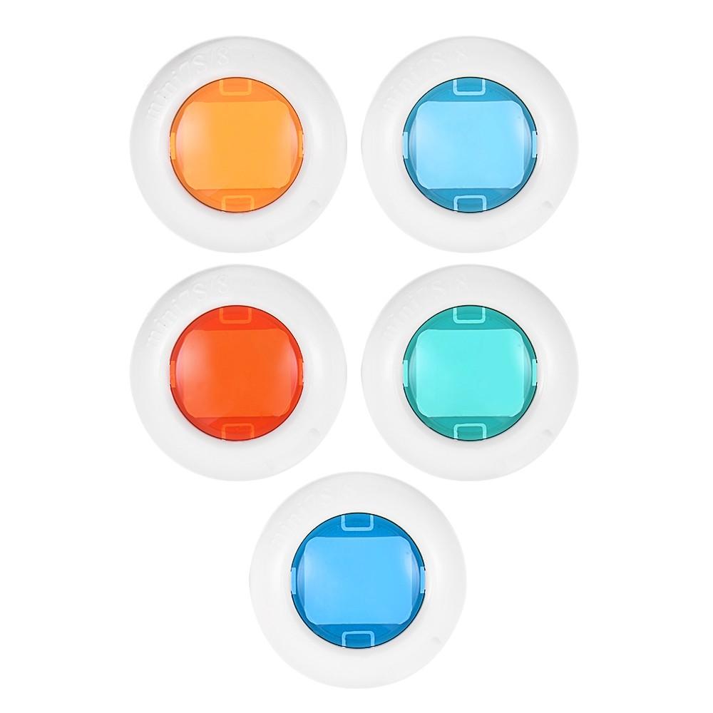 Instant Camera Mini Color Close Up Lens Filter Set for Fujifilm Instax Mini 7s/8/8+/9, 5pcs