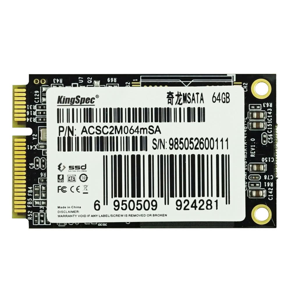 KingSpec MSATA MINI PCI-E 64G MLC Digital Flash Solid State Drive Storage SSD for PC Devices