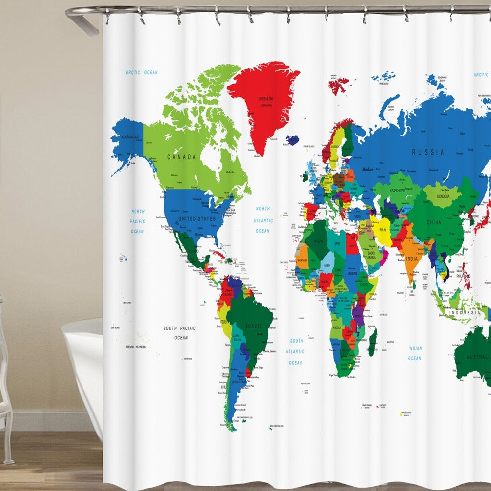 71 inch x 71 inch Shower Curtain Printed Blackout Curtains