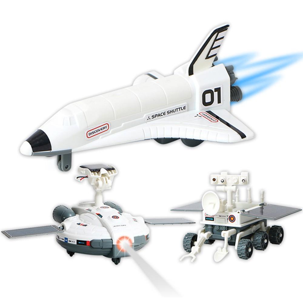 3 in 1 DIY Solar Power Educational Building Block Toy Spaceship Lunar Exploration Fleet Transformation Robot Kits Kids Gift