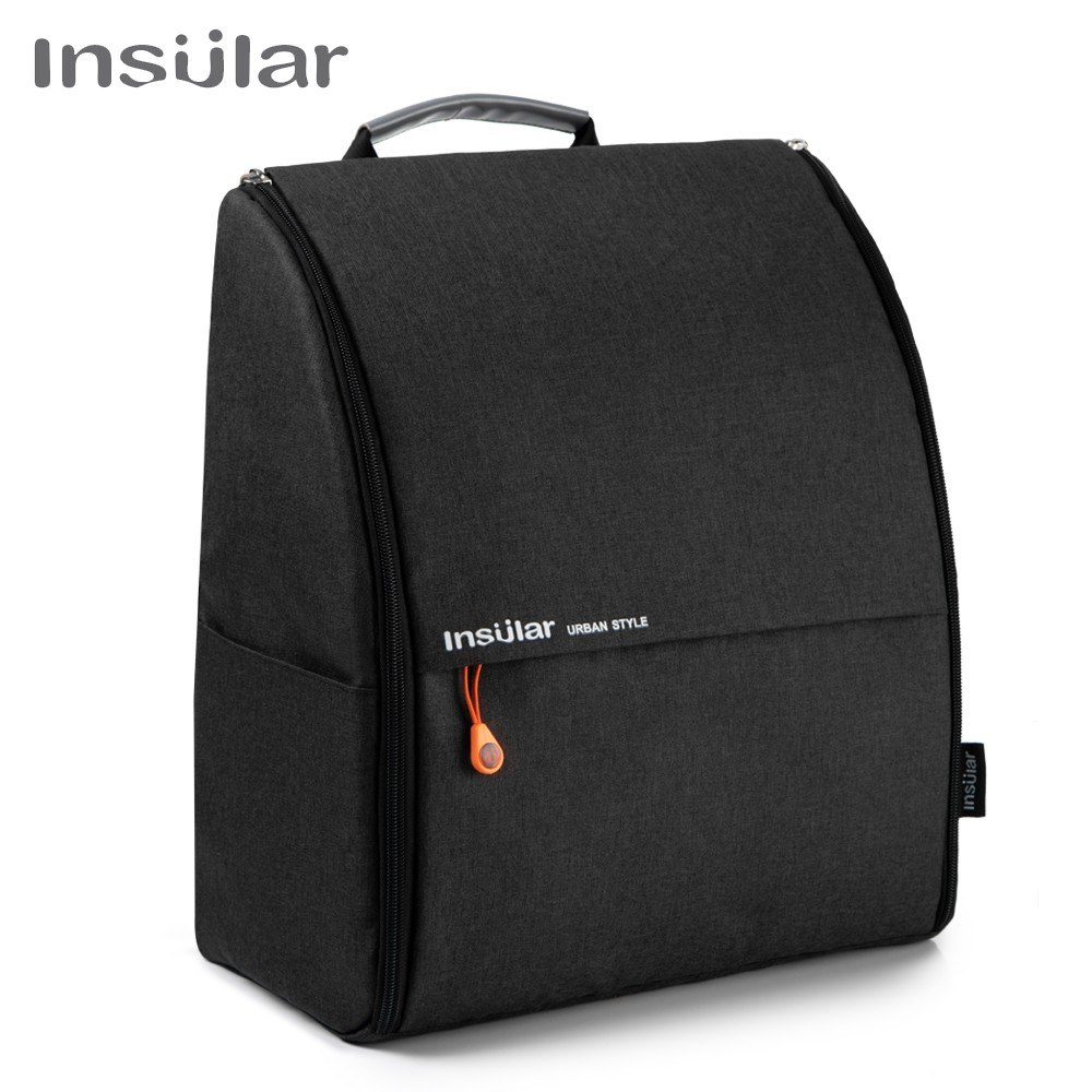 Insular Unisex Polyester Large Mommy Daddy Backpack Baby Clothes Diaper Nappy Milk Powder Bottle Travelling Storage Bag with Stroller Straps Changing Mat Wet Bag--Black