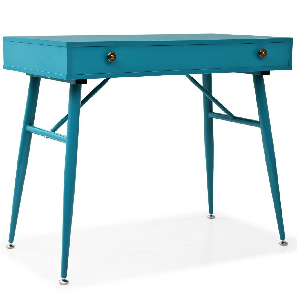 Desk with drawer 90 x 50 x 76.5 cm antique green