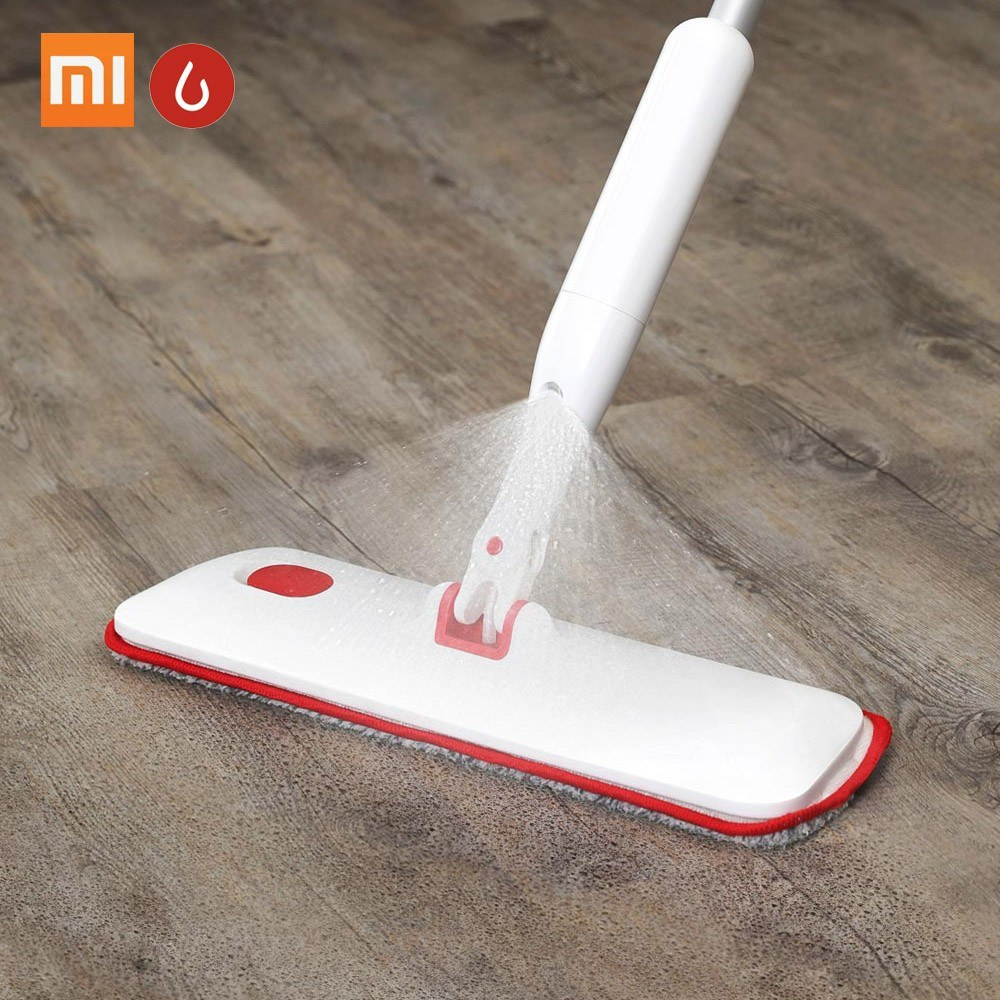 Xiaomi Yijie Water Spray Mop 360 Degree Universal Rotating Home Cleaning Tools Microfiber Cloth 270ml Water Spray Sweeper