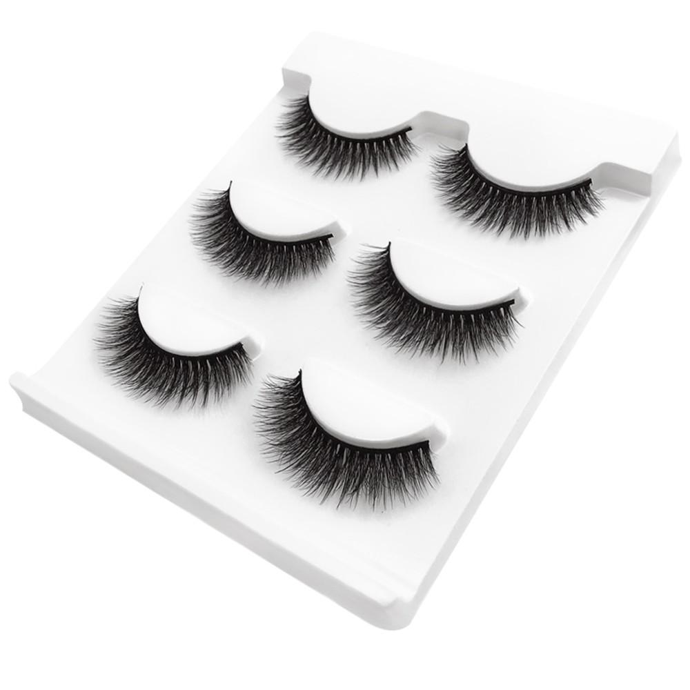 SHIDISHANGPIN 3 Pairs Mink Eyelashes 3D False Lashes Thick Crisscross Makeup Eyelash Extension Natural Volume Soft Fake Eye Lashes