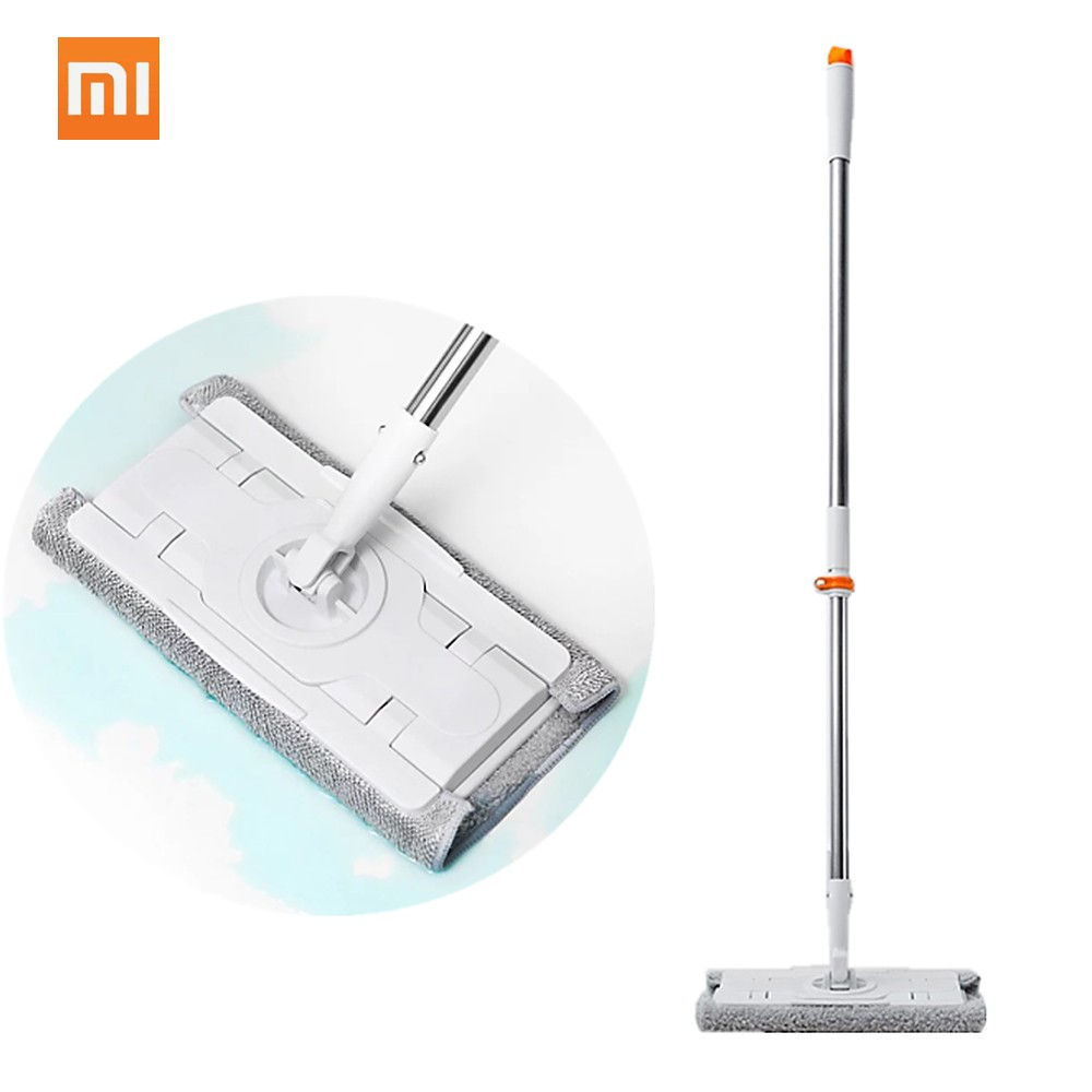 Xiaomi Mijia Jiezhi Broom Dust Mop Sweeper Free Adjustable 360 Rotating Cleaner 1.3m Rod Floor Cleaning Tool For Home Family Office