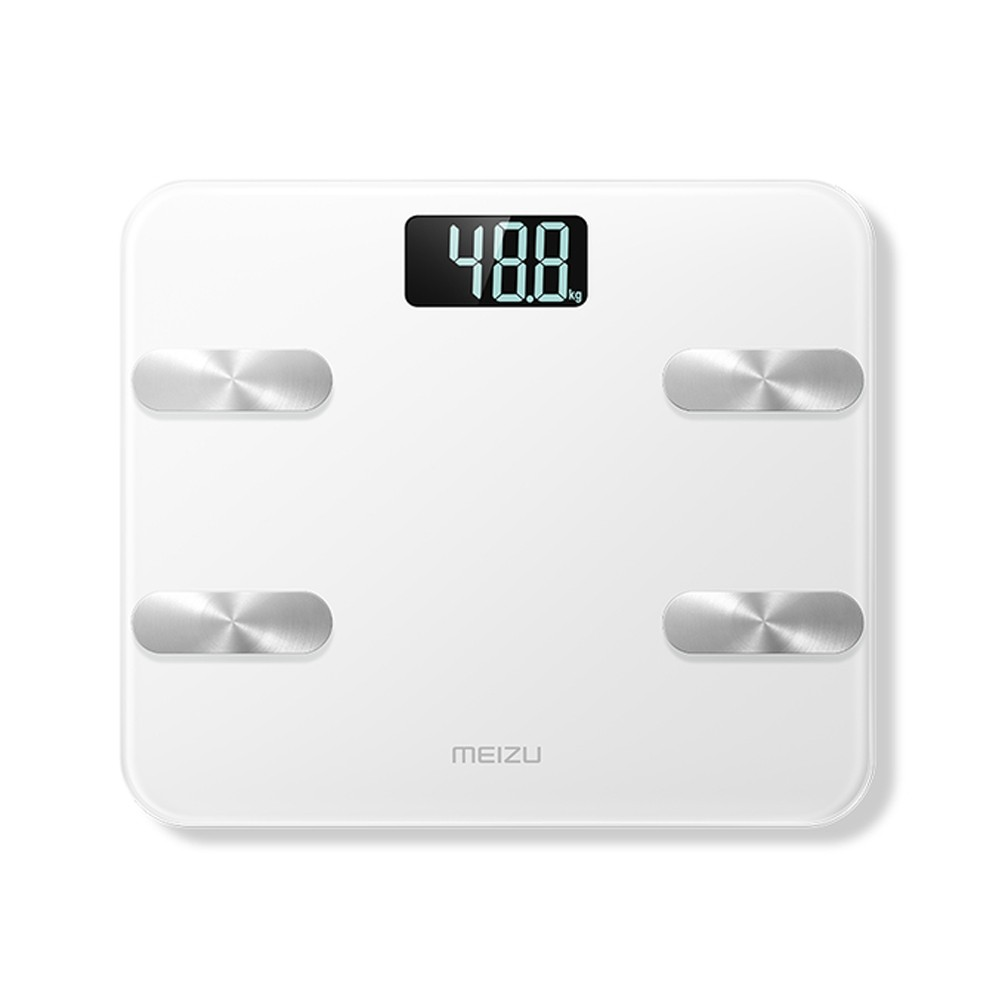 MEIZU Smart Body Fat Scale Digital Scale Bathroom Scale Smart Backlit Display Scale for Body Weight Body Fat Water Muscle Mass BMI
