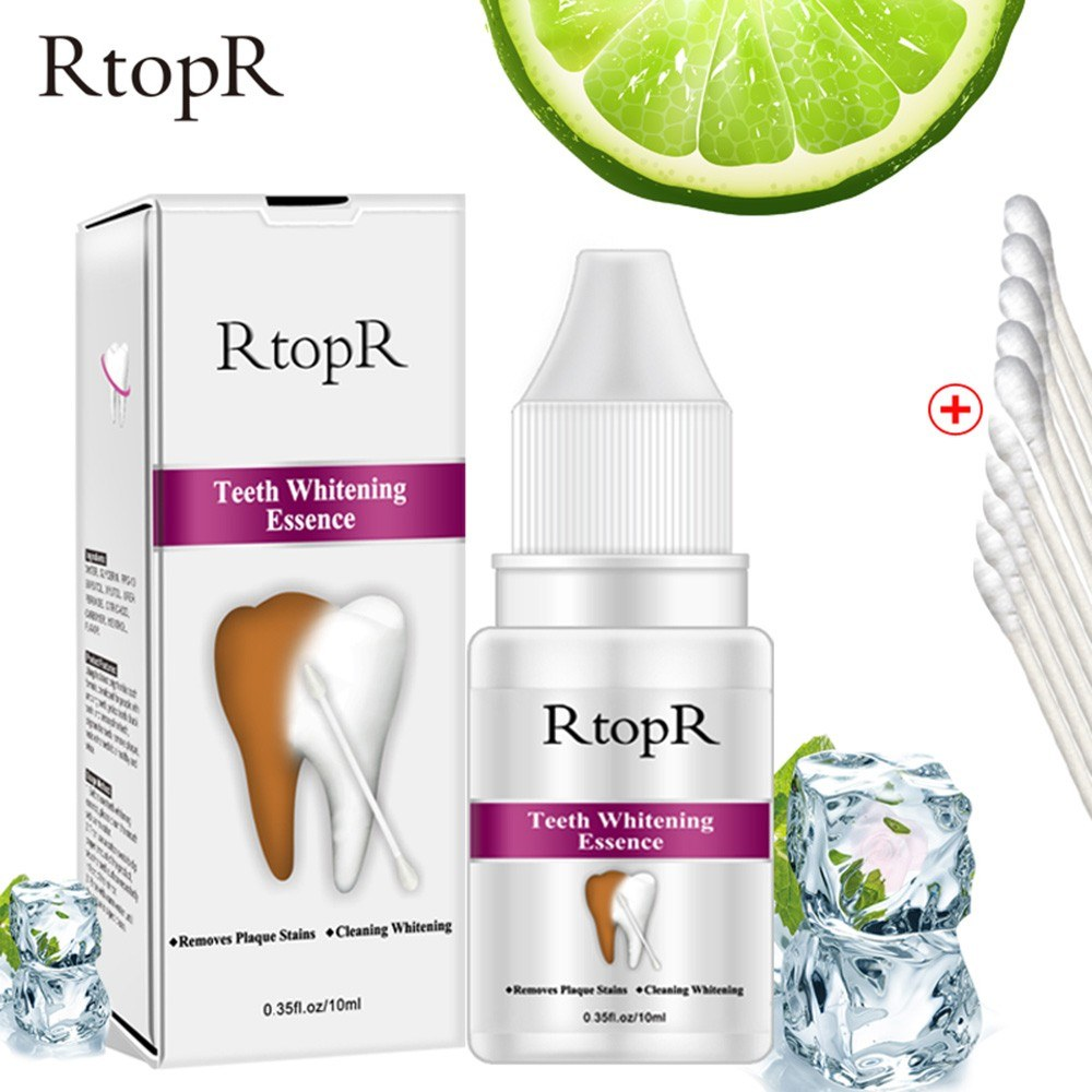 RtopR Teeth Whitening Essence Oral Hygiene Cleaning Serum Removes Plaque Stains Tooth Bleaching Dental Toothpaste
