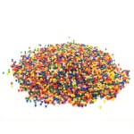 3000pcs Soft Crystal Water Beads Colorful Paintball Bullets for Water Toy Pearl Shaped Soil Mud Grow Magic Jelly Balls(multicolor)
