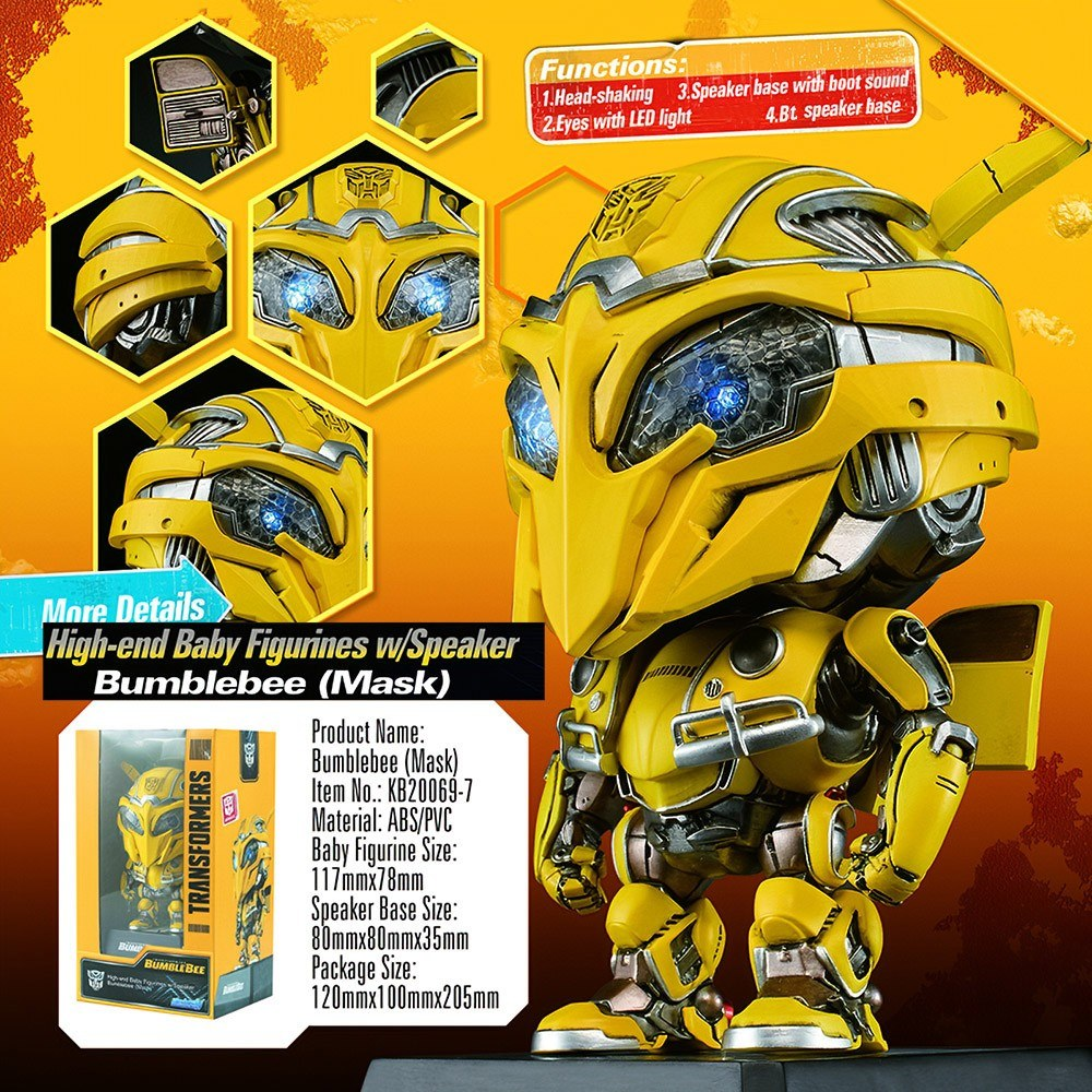 Killerbody Transformers Bumblebee Loudspeaker Soundbox Head-shaking Baby Figurine Speaker Base Single Set Bumblebee