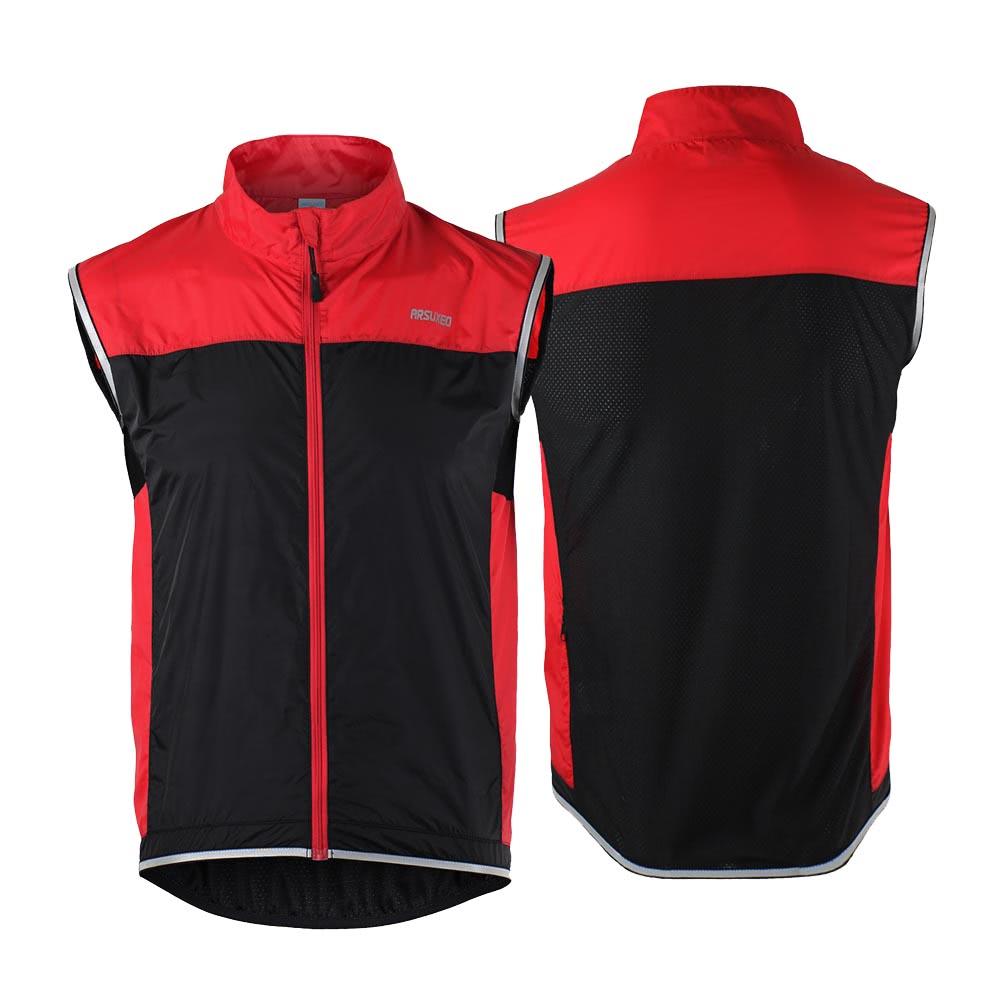 ARSUXEO Men's Ultrathin Lightweight Sleeveless Coat Jacket Running Cycling Vest