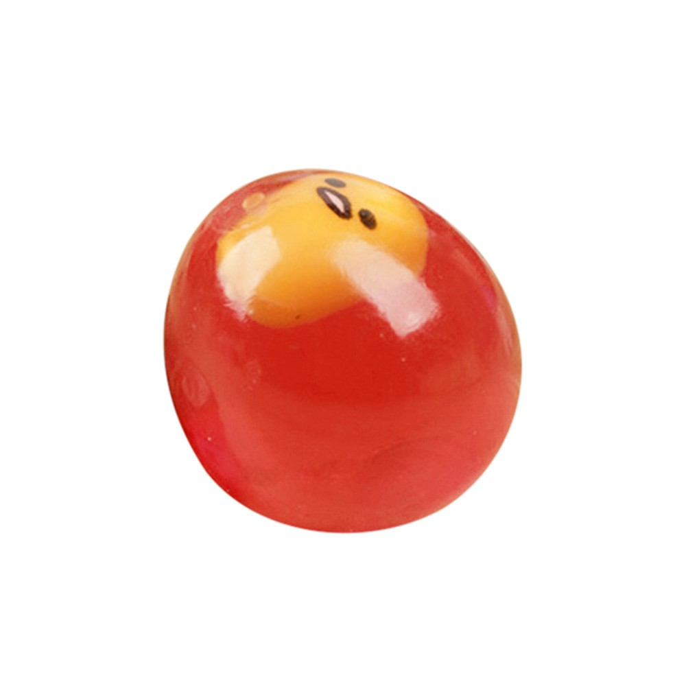 Colorful Squeeze Egg Decompression Scented Simulation Kawwaii Ball Stress Relief Yolk Balls  Anxiety Reducer Sensory Play (Red)