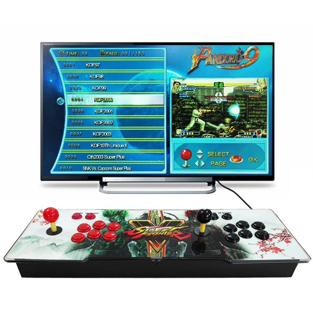 9 Arcade Console 1500 in 1 2 Players Control Arcade Games Station Machine Joystick