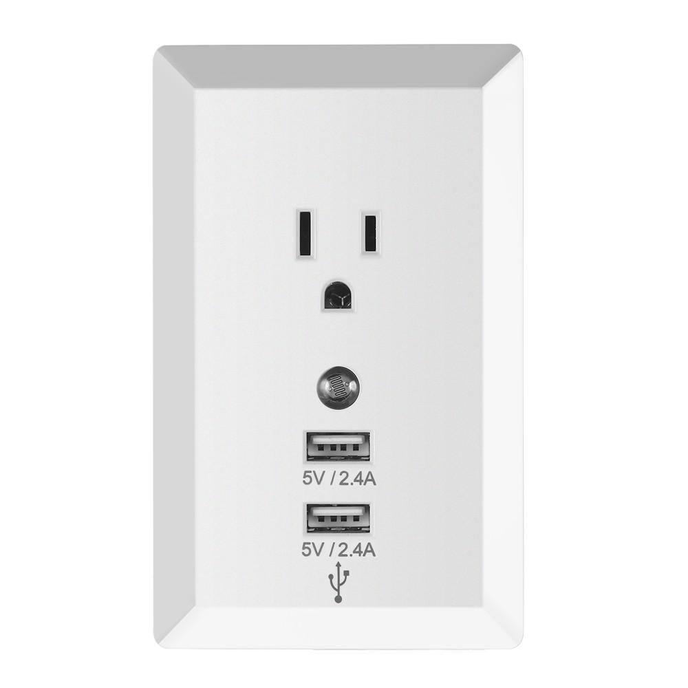 Socket Wireless Home Plug Socket with Night Light Adaptor Plug with USB Interface