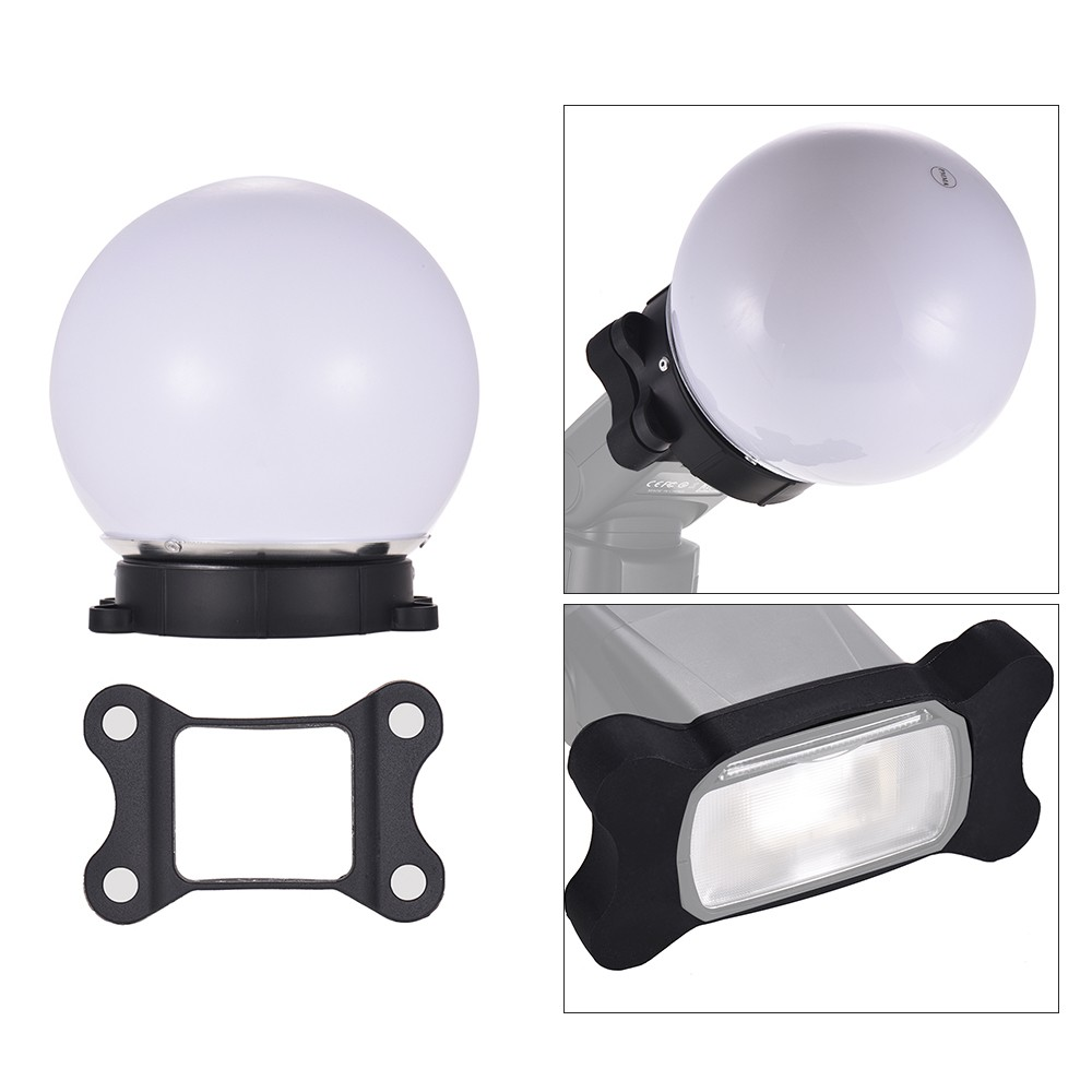On-camera Flash Diffuser Ball Magnet Adsorption Soft Balls for Nikon Canon Yongnuo Godox Sigma Andoer Neewer Vivitar Speedlight