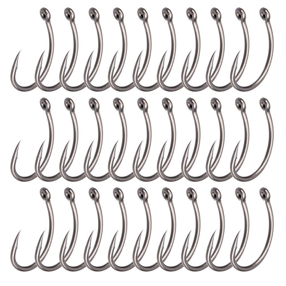 30Pcs 6#/8#/10# Curve Hooks