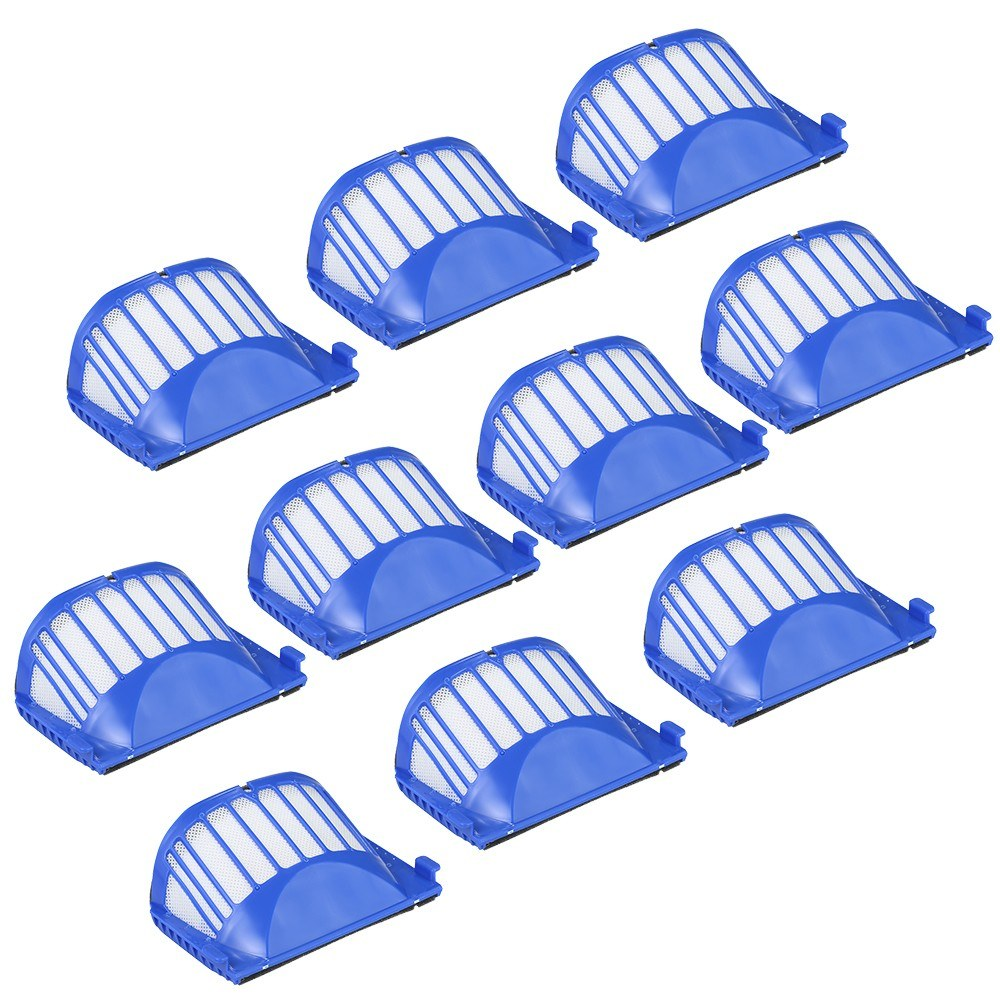 10pcs Filter Replacement Accessories Kit Replenishment for iRobot Roomba 600 Series 690 691 694 650 651 664 615 601 630 Vacuum Cleaner