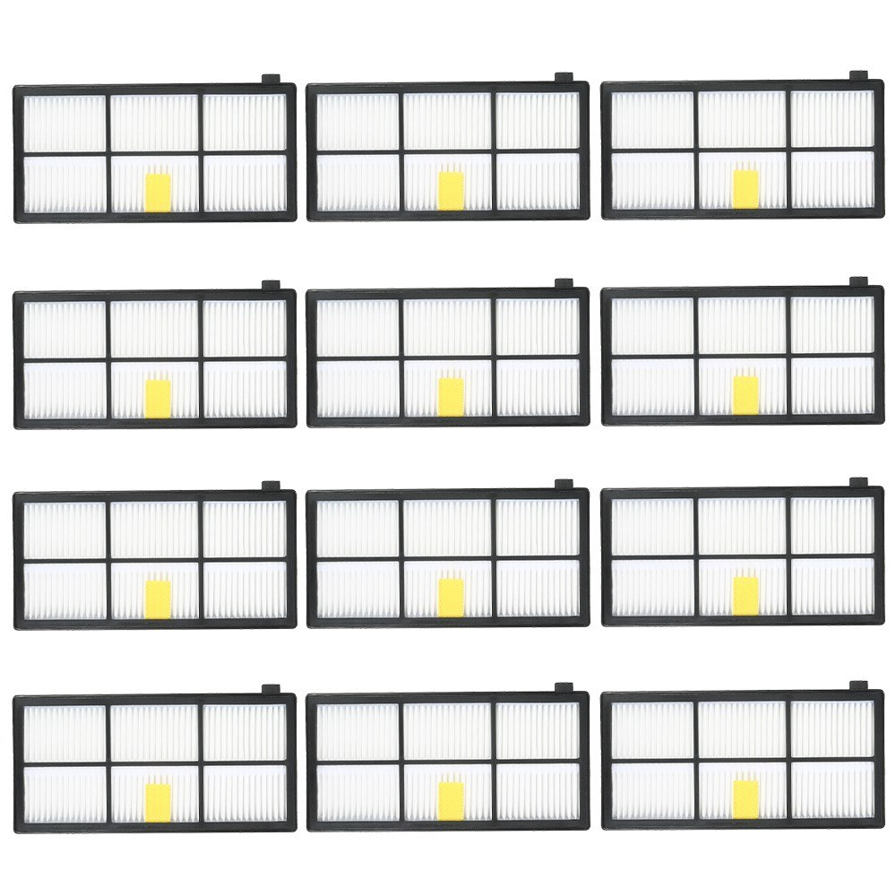 12pcs HEPA Filter Replacement Accessories Kit Replenishment for iRobot Roomba 800 & 900 Series 805 860 861 864 866 870 880 890 891 894 960 961 964 966 980 Vacuum Cleaner