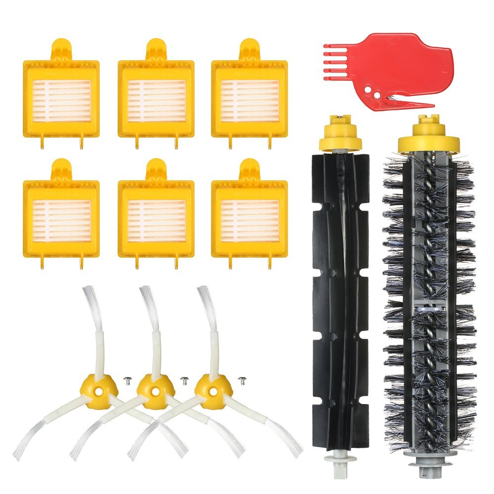 Pack of 12 Replacement Accessories Kit for iRobot Roomba 700 Series 700 760 770 780 790 Vacuum Cleaner-- Bristle Brush + Flexible Brush + Side Brushes + HEPA Filter + Cleaning Tool