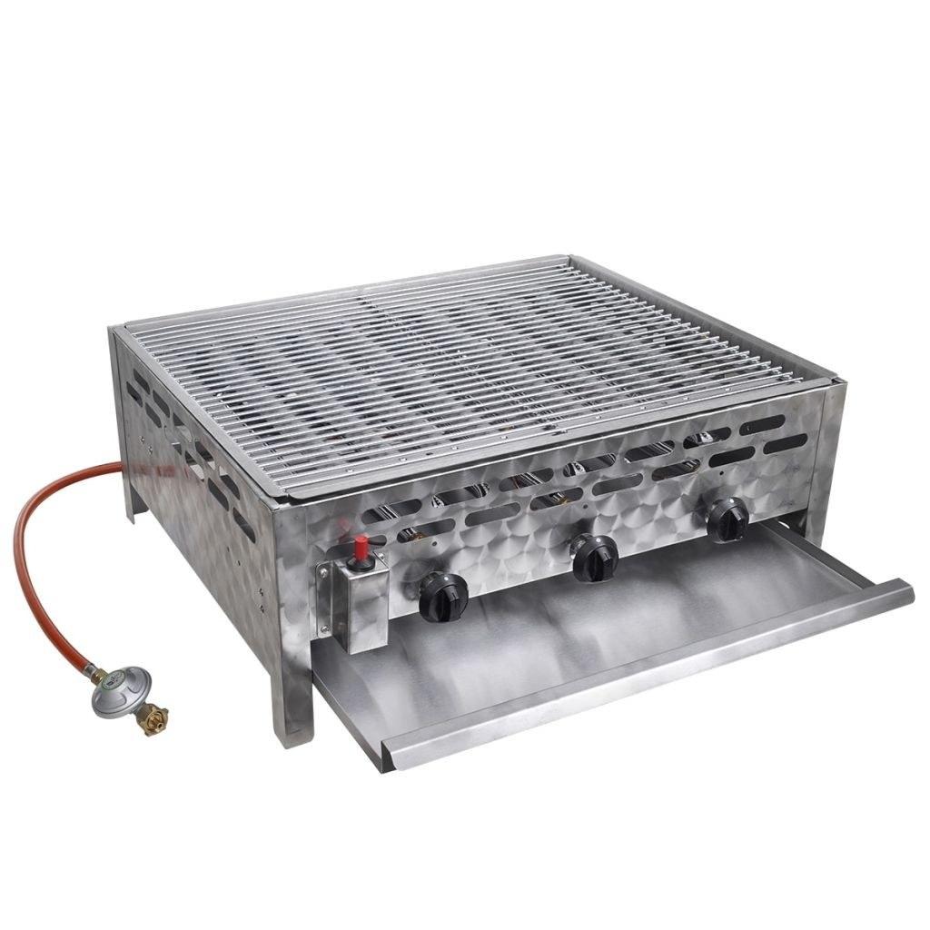3 burner gas grill Stainless Steel BBQ Rotisserie