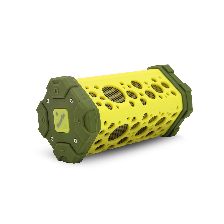 Rockgo RGS1GN Portable Bluetooth Speaker, Outdoor, Water-Resistant, Crisp Sound, Green