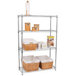 4-Layer Chrome Plated Iron Shelf - Silver